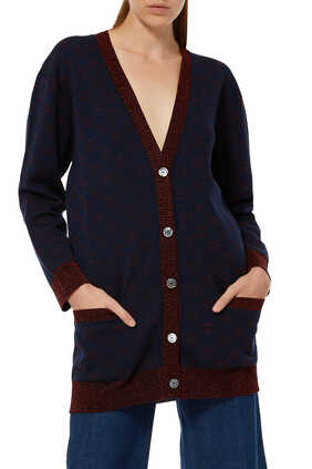 GG Cotton Wool Piquet Cardigan