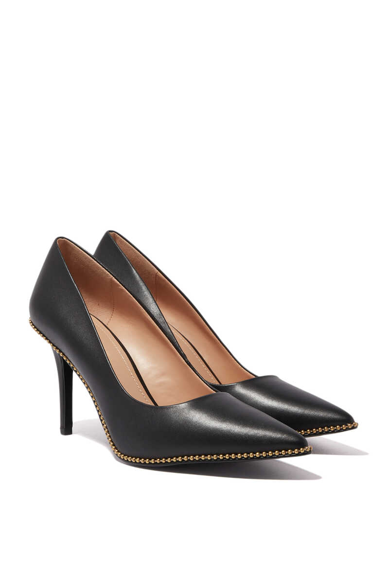 Waverly Beadchain Leather Pumps image number 5