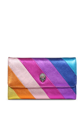 Kensington Striped Leather Wallet