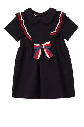 Cotton Dress with Bow