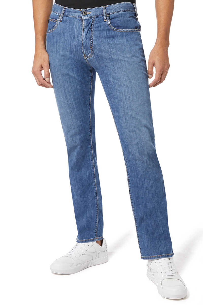 Medium Wash Regular Fit Jeans image number 1