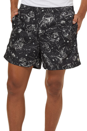 Abstract Print Swim Shorts