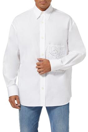 Lace Poplin Shirt