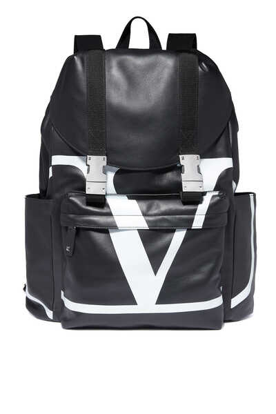 Valentino Garavani Go Logo Leather Backpack