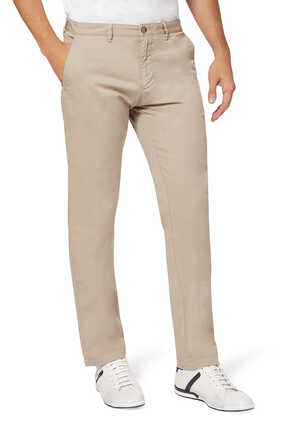 Tapered Stretch-Cotton Chinos