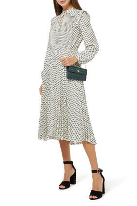 Ripletta Satin Bow Print Dress
