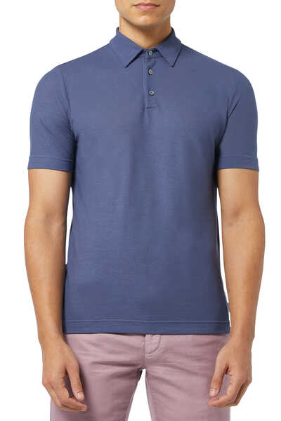 Ice Cotton Jersey Polo T-Shirt