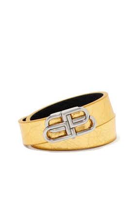 BB Double Wrap Leather Bracelet