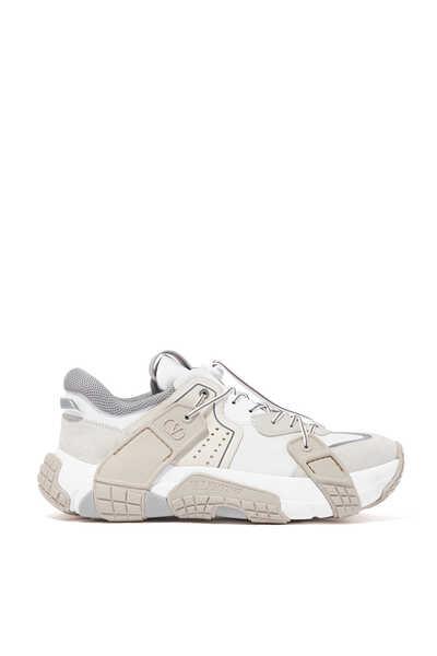 Valentino Garavani Nylon and Suede Wod Sneakers