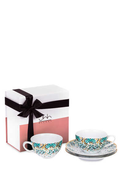 Mirrors Tea Cups, Set of Two
