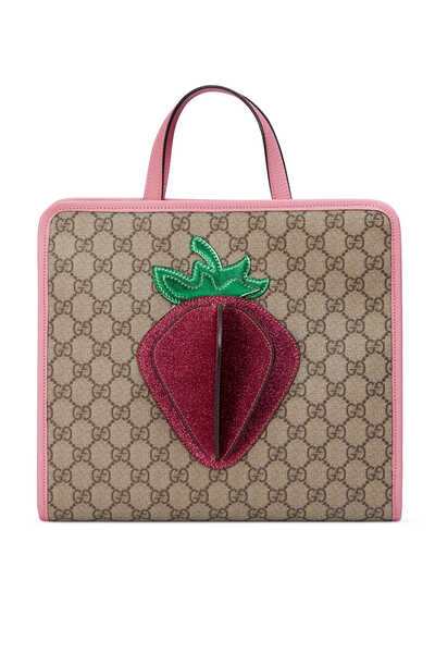 3D Strawberry Tote Bag