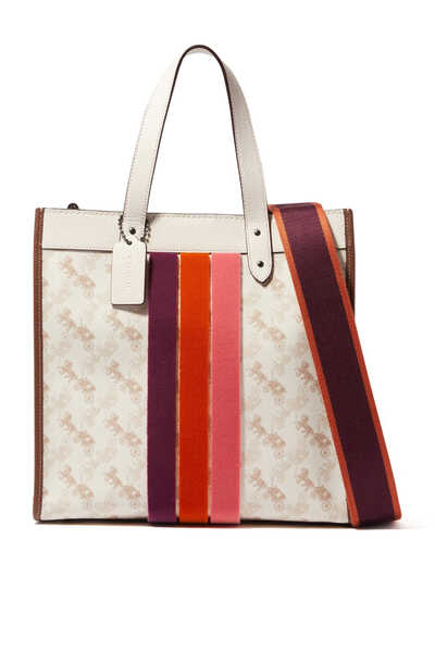 Field Horse and Carriage Print Tote Bag