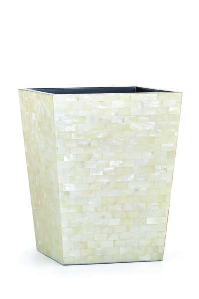 White Agate Waste Basket