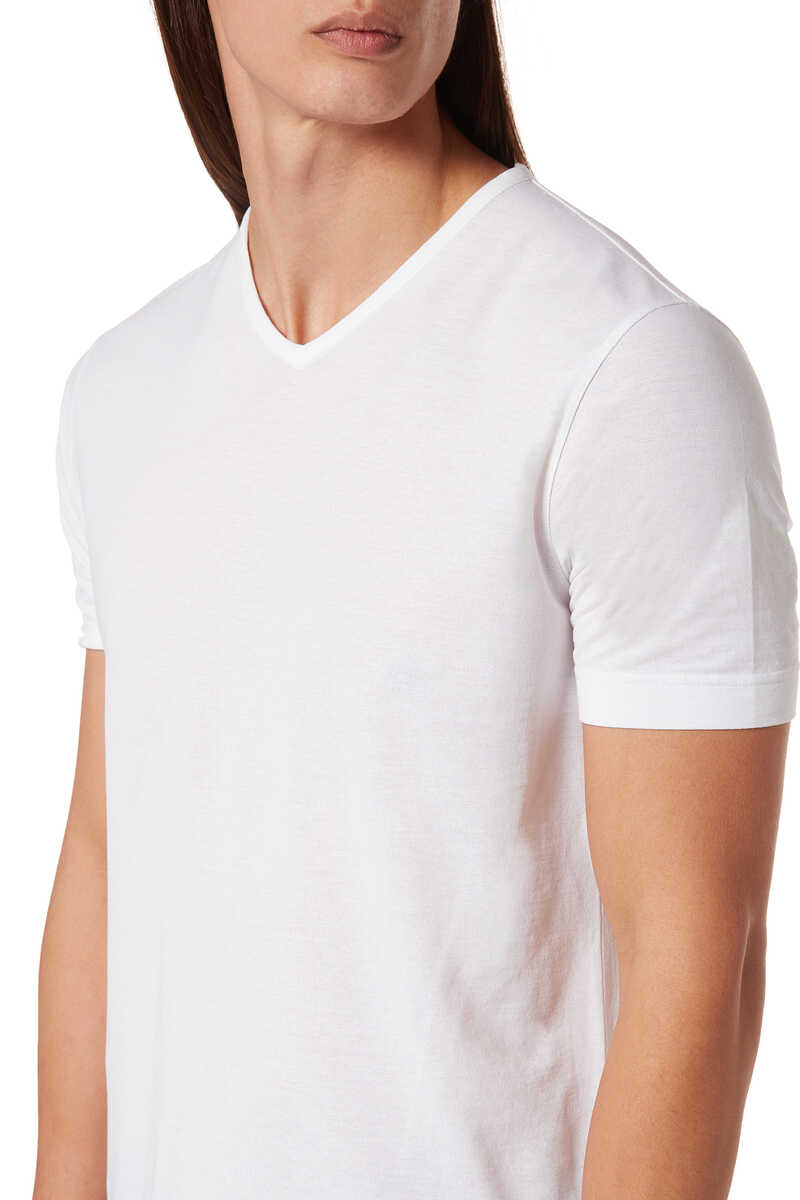 Ice Cotton V-Neck T-Shirt image number 4