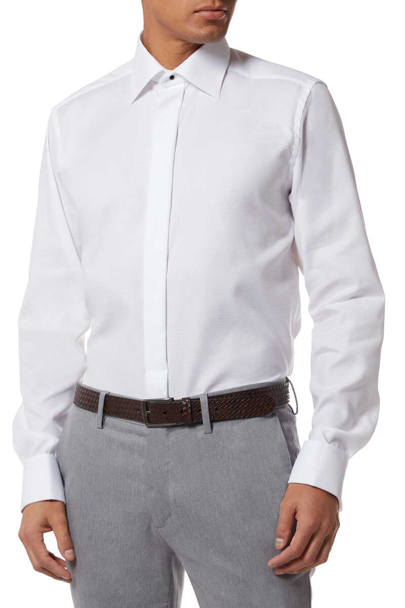 Slim Fit Dobby Evening Shirt image number 2