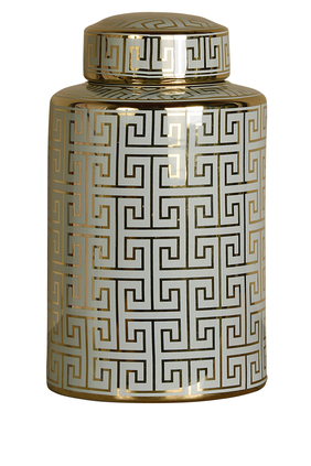 Abstract Lid Jar