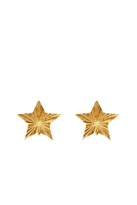 Stars & Love Radiating Star Clip-On Earrings In Metal
