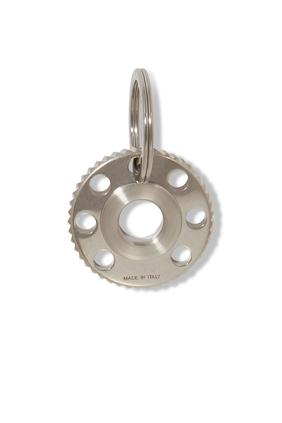 Cog Silver-Tone Key Ring