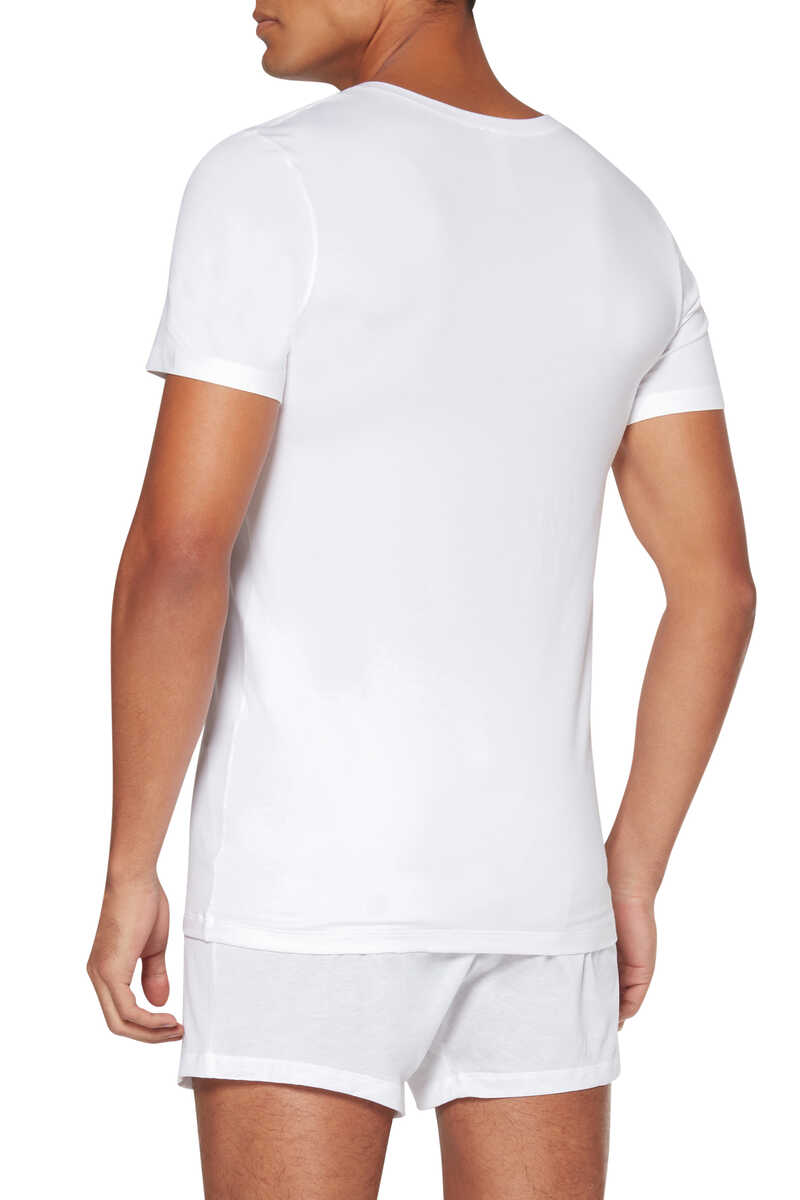 Cotton Superior V-Neck Top image number 2