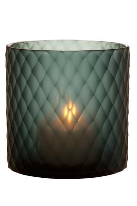 Medium Morton Hurricane Sapphire Candle Holder