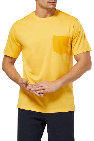 Cotton Piqué Pocket T-Shirt