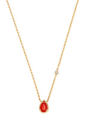 Serpent Bohème Carnelian Diamond Necklace