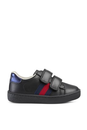 Toddler Leather Sneaker With Web