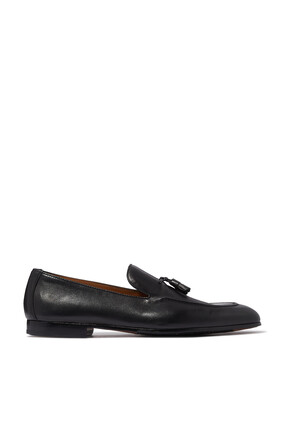 Leather Tassles Loafers